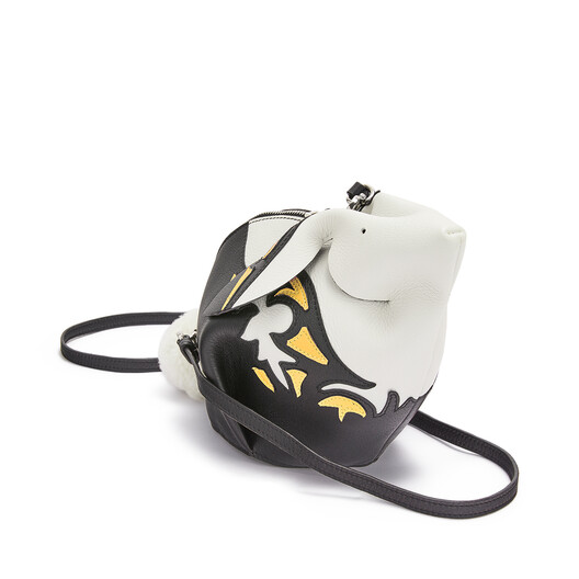 LOEWE Bunny Cowboy Mini Bag Black/Yellow Mango front