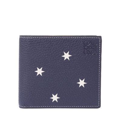LOEWE Bifold Wallet Stars Navy/White front