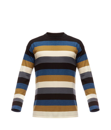 LOEWE Stripe Sweater Black/Blue/Grey front