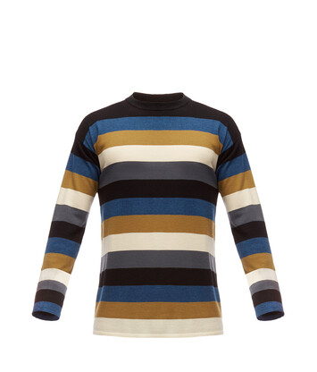 LOEWE Stripe Sweater Black/Blue/Grey front
