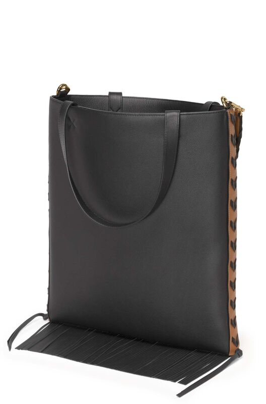 LOEWE Bolso Vertical Tote Geometrico Ocre/Negro all