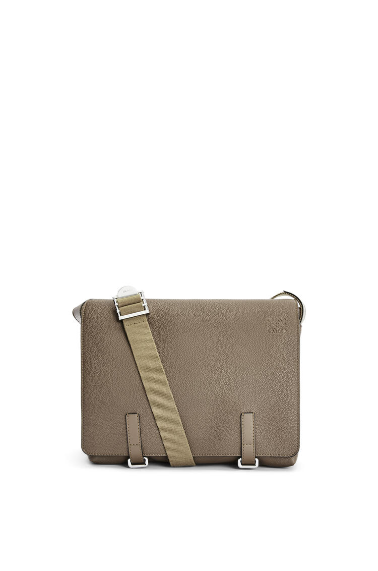 LOEWE Military Messenger Bag in soft grained calfskin Dark Moss pdp_rd