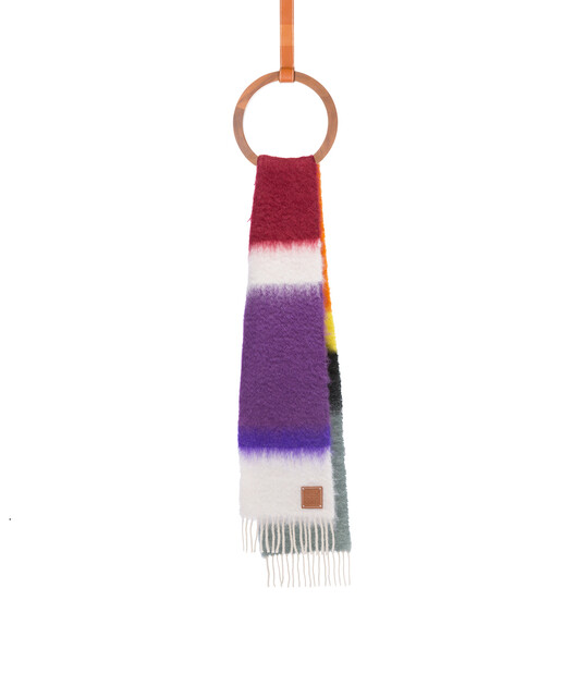 LOEWE 23X185 Scarf Stripes Multicolor/Blanco front