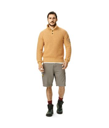 LOEWE Eln Melange High Neck Sweater Mustard front