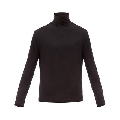LOEWE Turtleneck Long Sleeve T-Shirt Black front