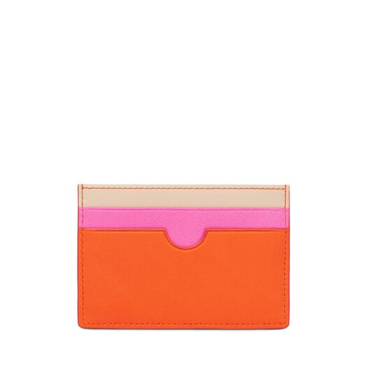 LOEWE Plain Card Holder Orange/Multicolor front