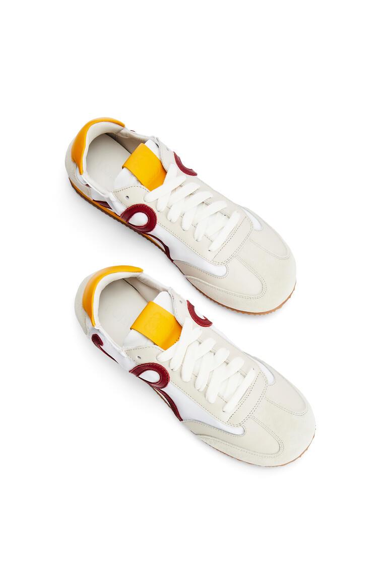 LOEWE Ballet runner in nylon and calfskin Soft White/Red/Sun pdp_rd