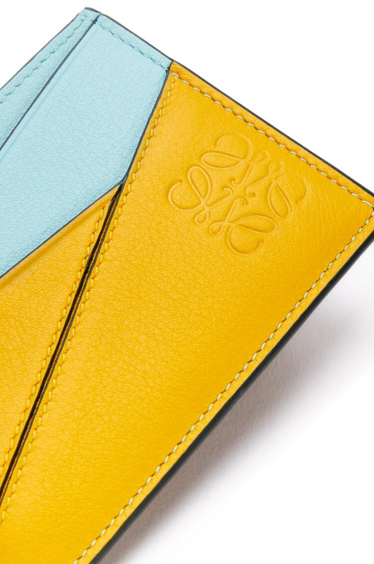 LOEWE 经典牛皮革Puzzle卡包 Yellow Mango/Multicolor pdp_rd