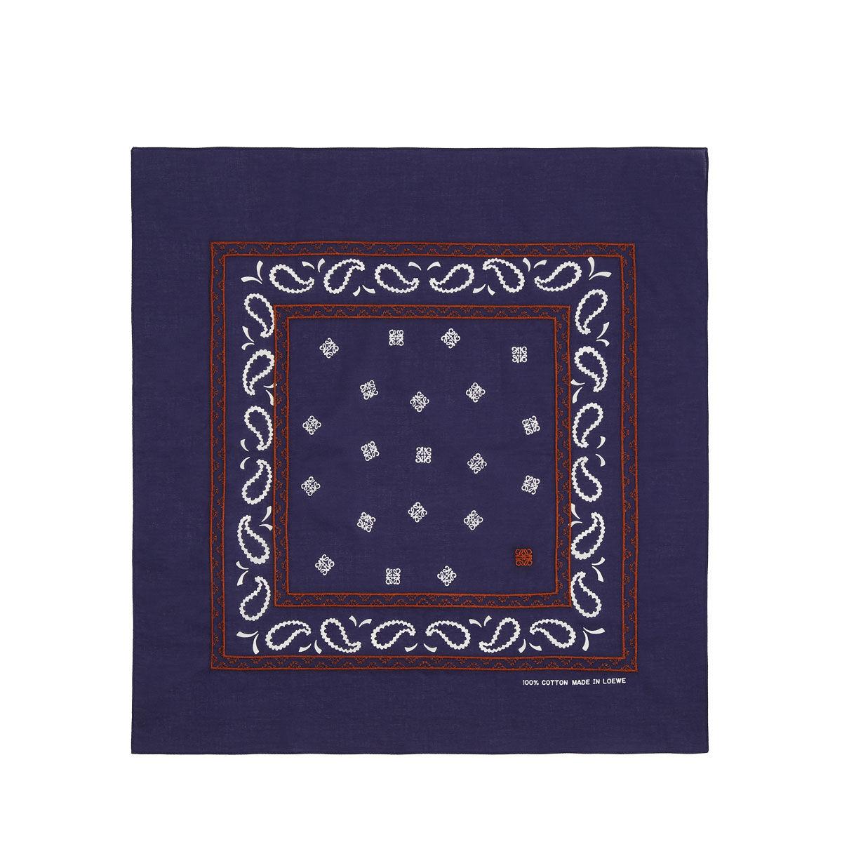 LOEWE 50X50 Bandana Embroideries Marino Oscuro all