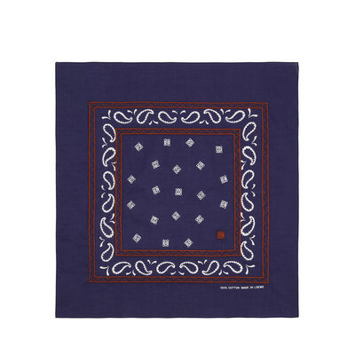 LOEWE 50X50 Bandana Embroideries Dark Navy Blue front