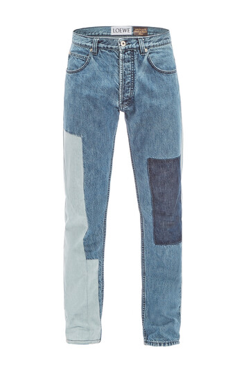 LOEWE Paula Patchwork 5 Pocket Jeans 蓝色 front