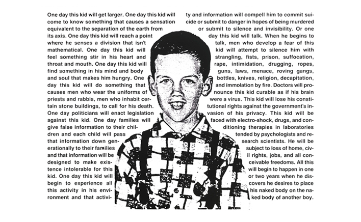 """Untitled (One day this kid…)"" by David Wojnarowicz"