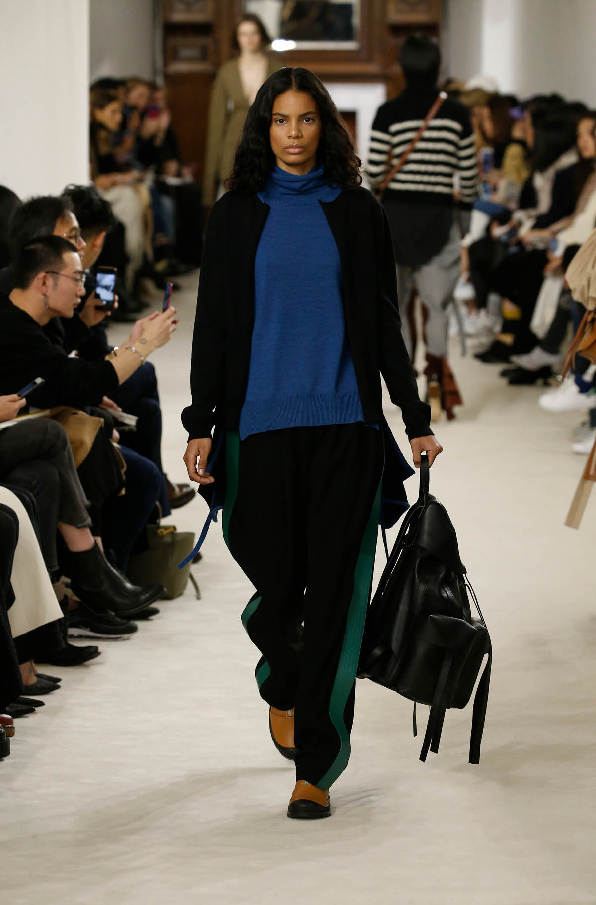 Blue Piping Trousers