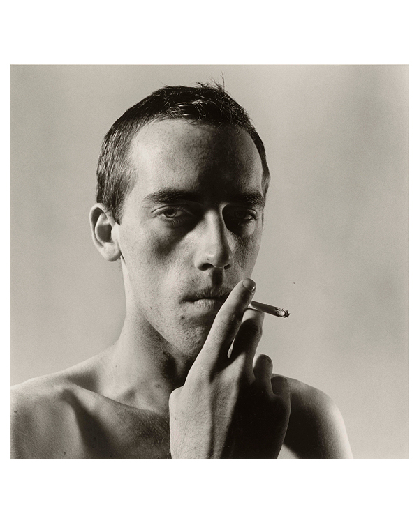 """David Wojnarowicz Smoking"" by Peter Hujar"