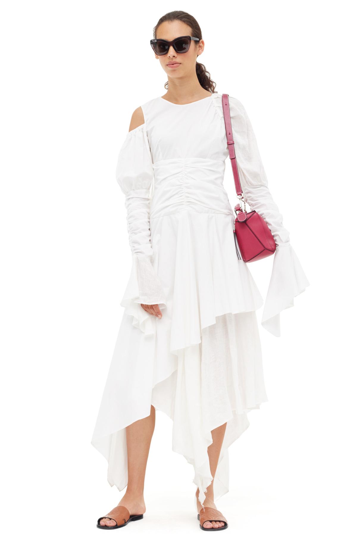 LOEWE Gathered Dress Blanco front