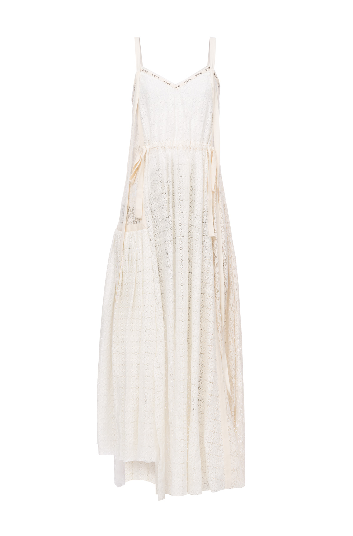 LOEWE Lace Camisole Dress Off-White front