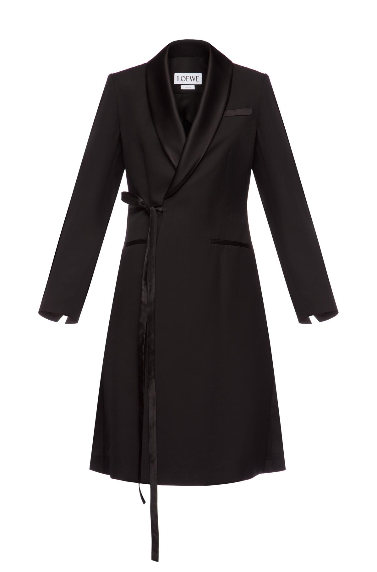 LOEWE Tuxedo Coat Black front