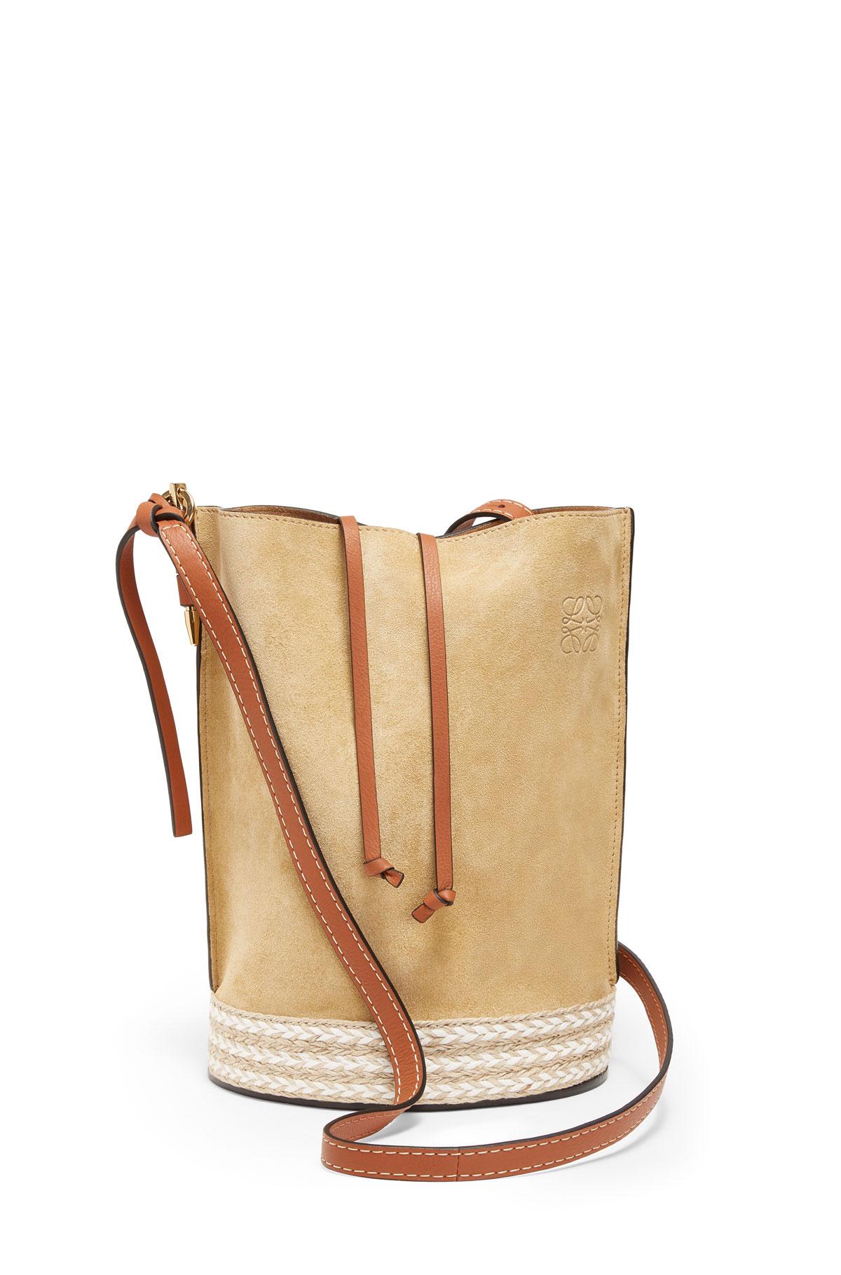 LOEWE Gate Bucket Espadrillas Bag Gold front