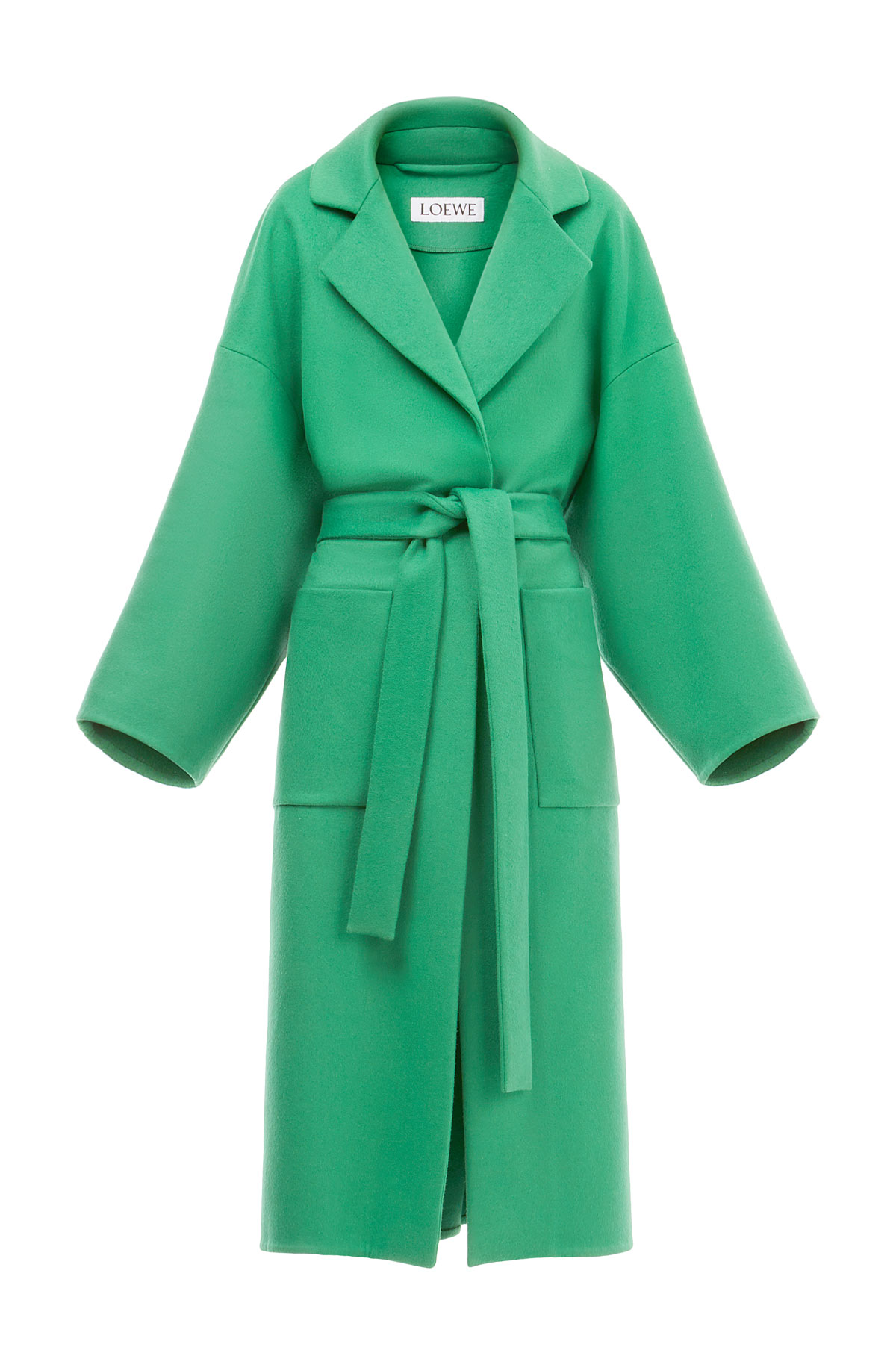 LOEWE Oversize Belted Coat 绿色 front