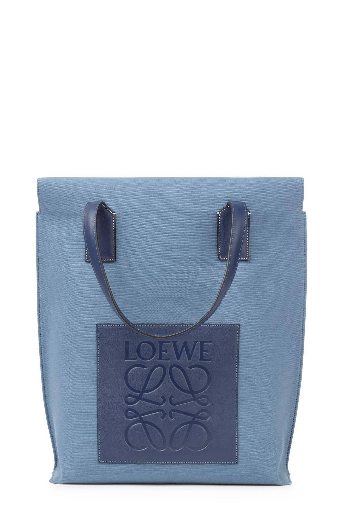 LOEWE ショッパー バッグ Blue/Navy front