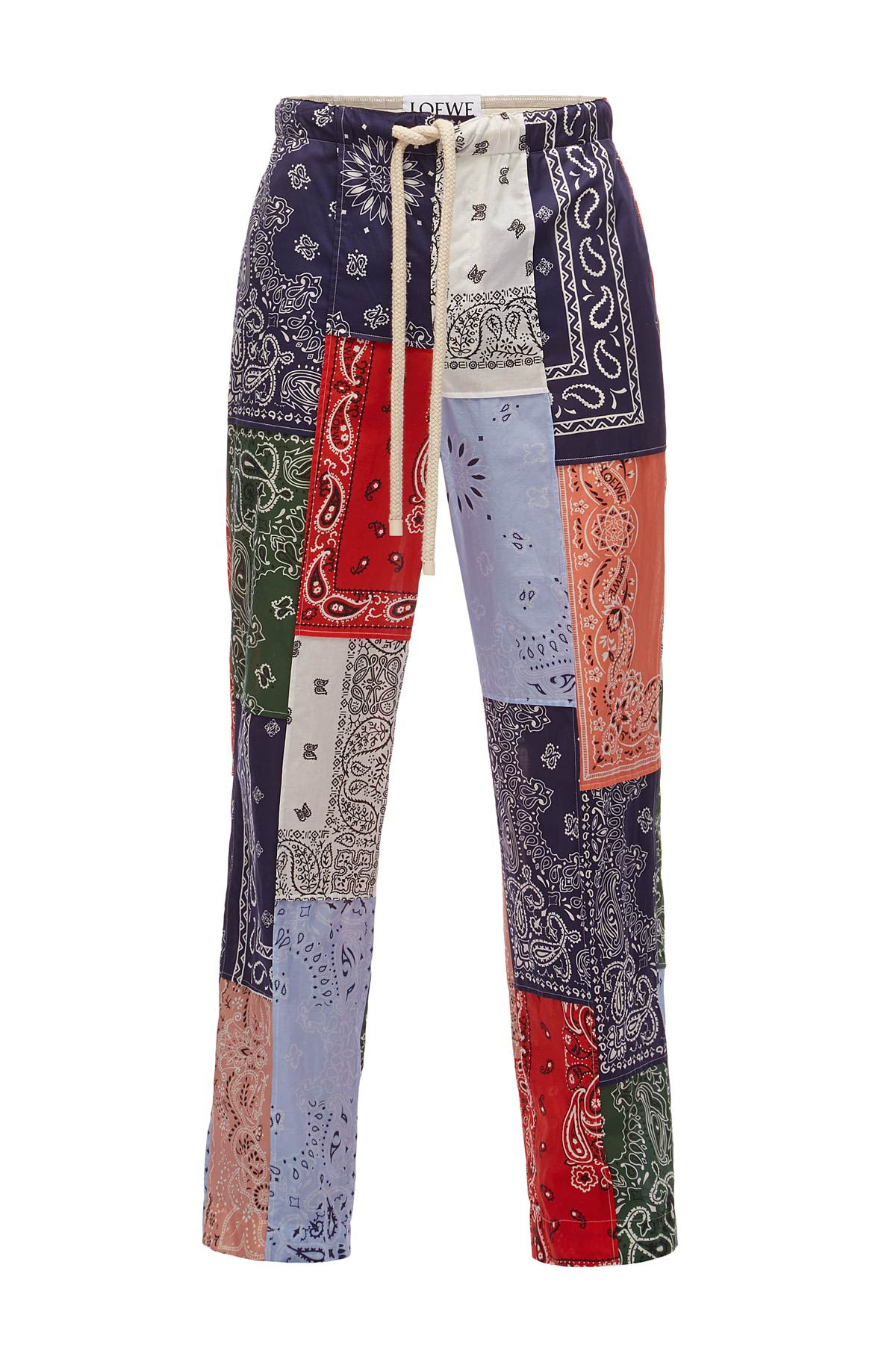 LOEWE Trousers Bandana Patchwork Multicolor front