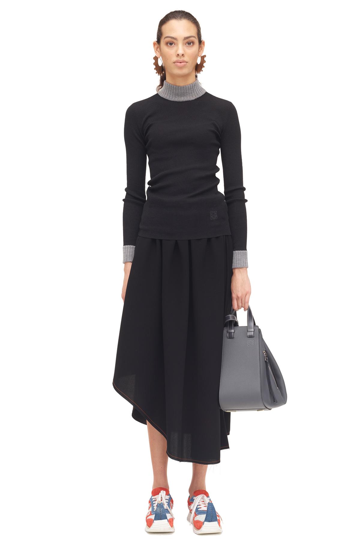 LOEWE Asymmetric Skirt Black front