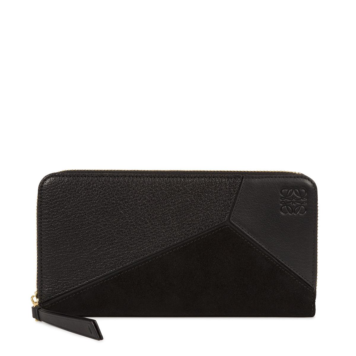 Puzzle Zip Around Wallet Black - LOEWE