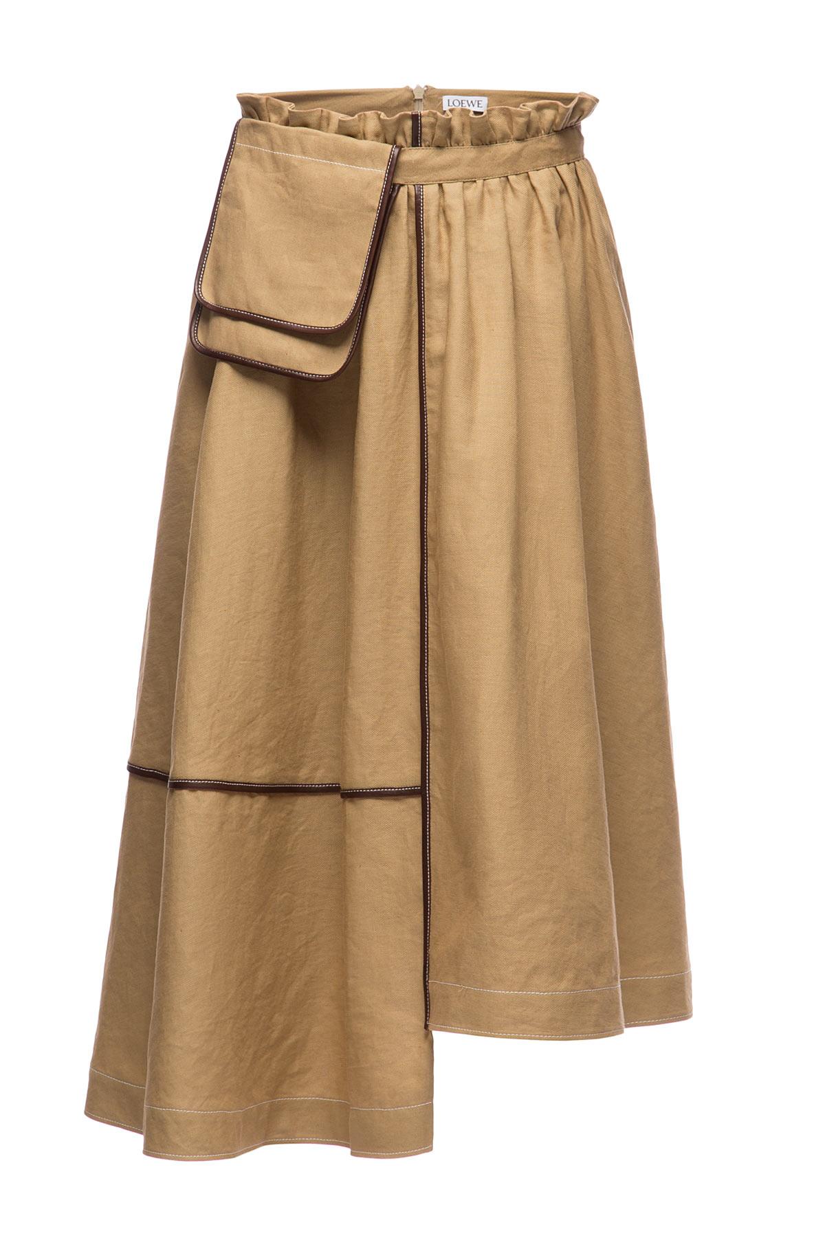 LOEWE Skirt Belt Pocket Saharienne Beige front