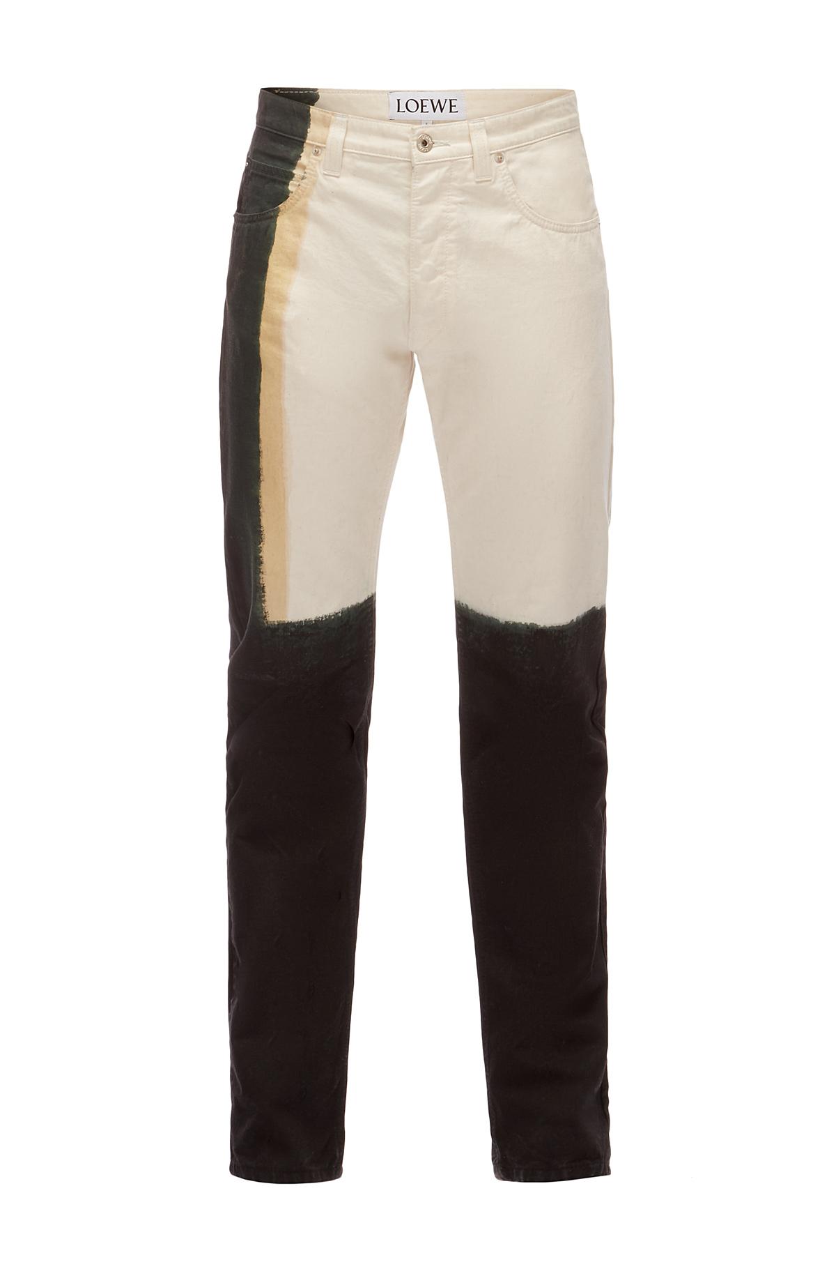 LOEWE 5 Pocket Jeans Tie Dye ホワイト front
