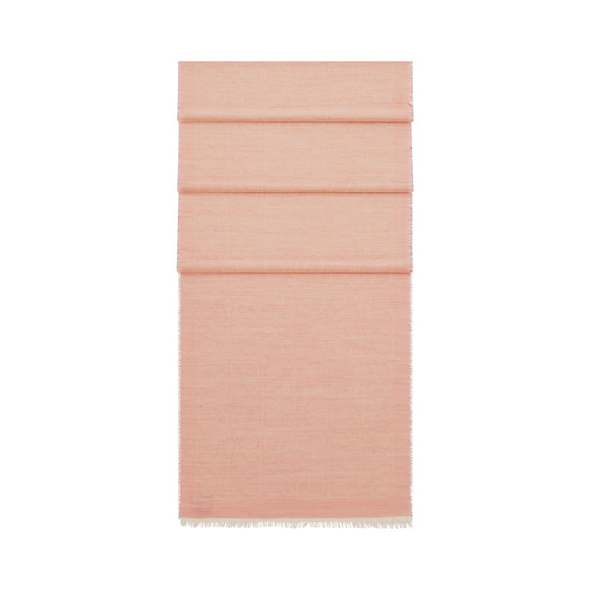 LOEWE 45X200 Scarf Damero Pink front