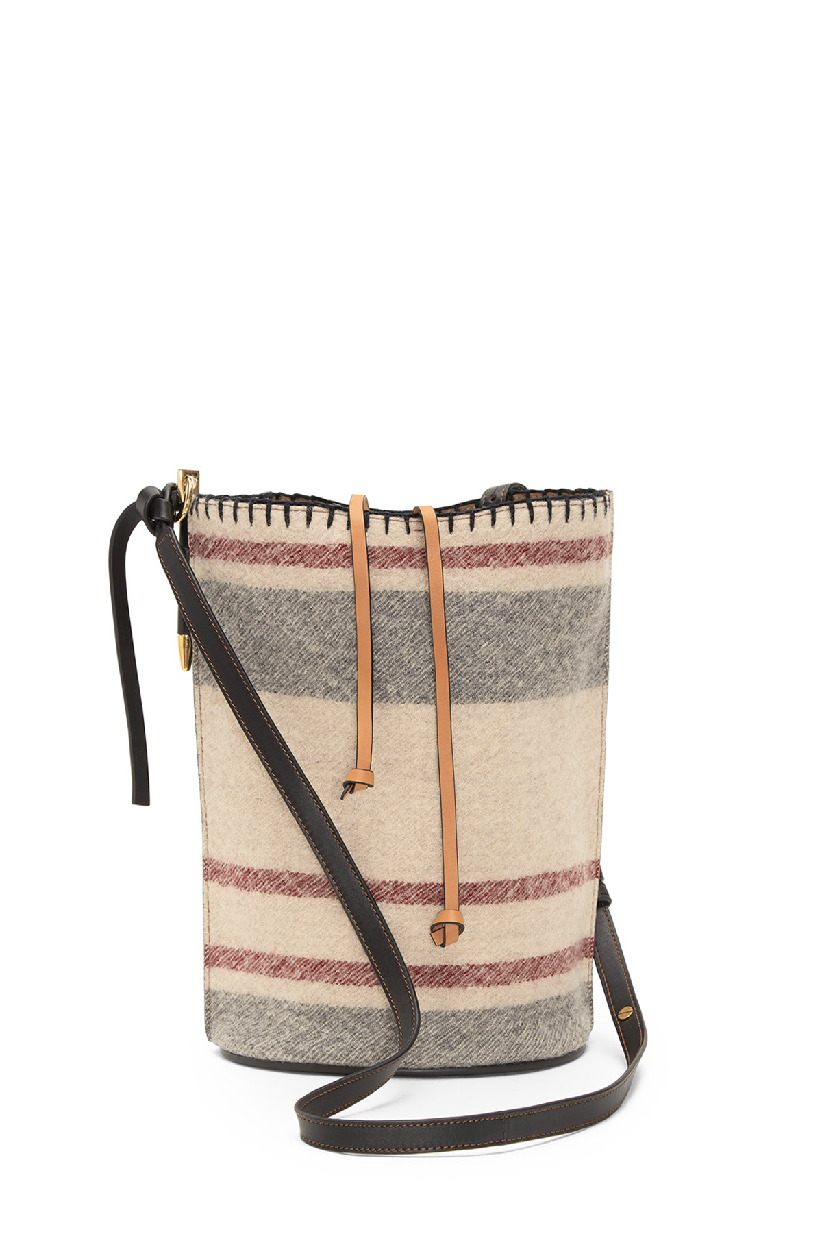 LOEWE Gate Bucket Stripes Bag Multicolor/Amber/Black front