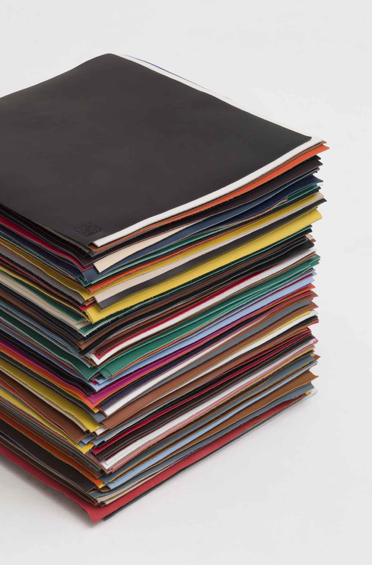 LOEWE Stack Of Leather Multicolor front