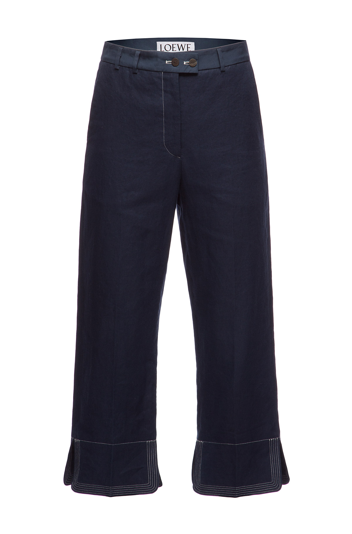 LOEWE Cropped Trousers Navy Blue front