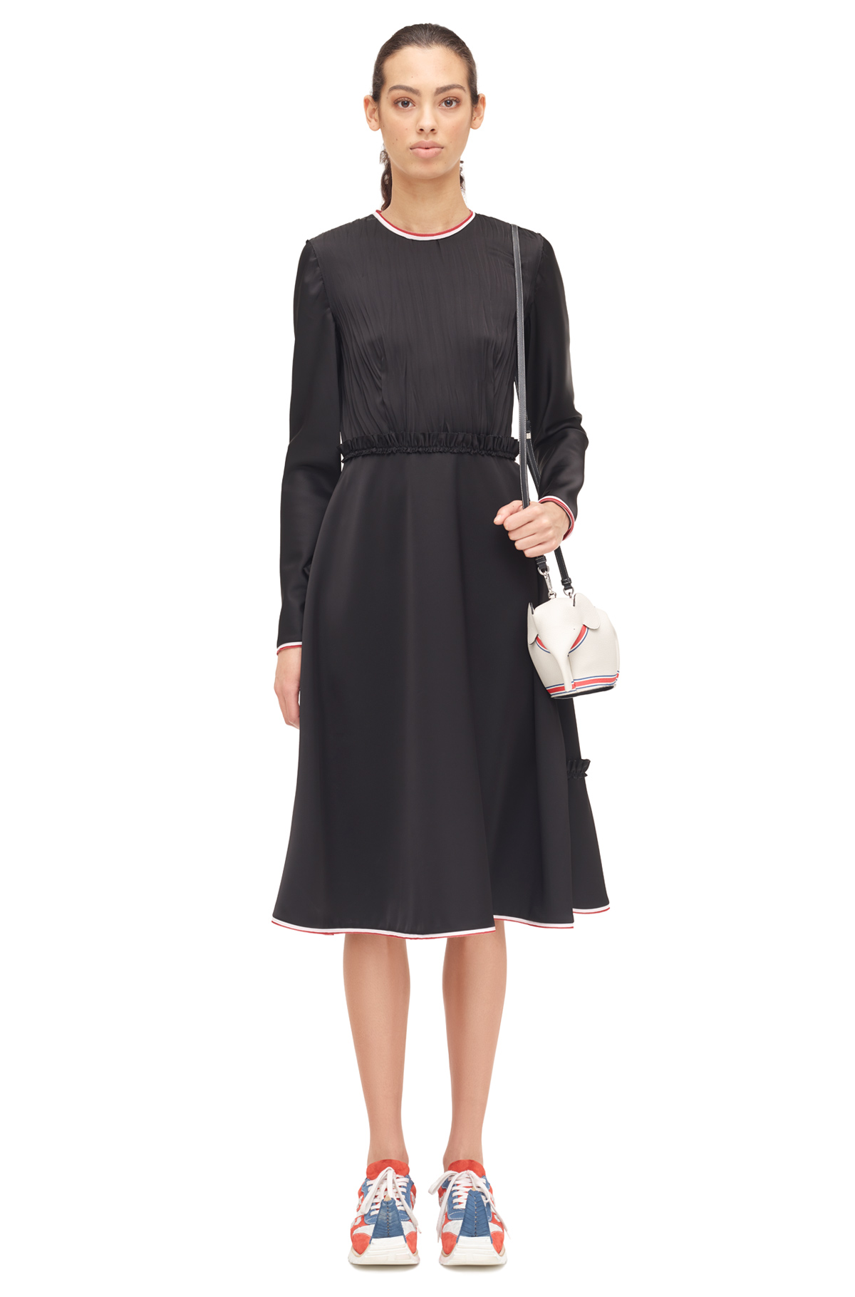 LOEWE Long Sleeve Dress Black front