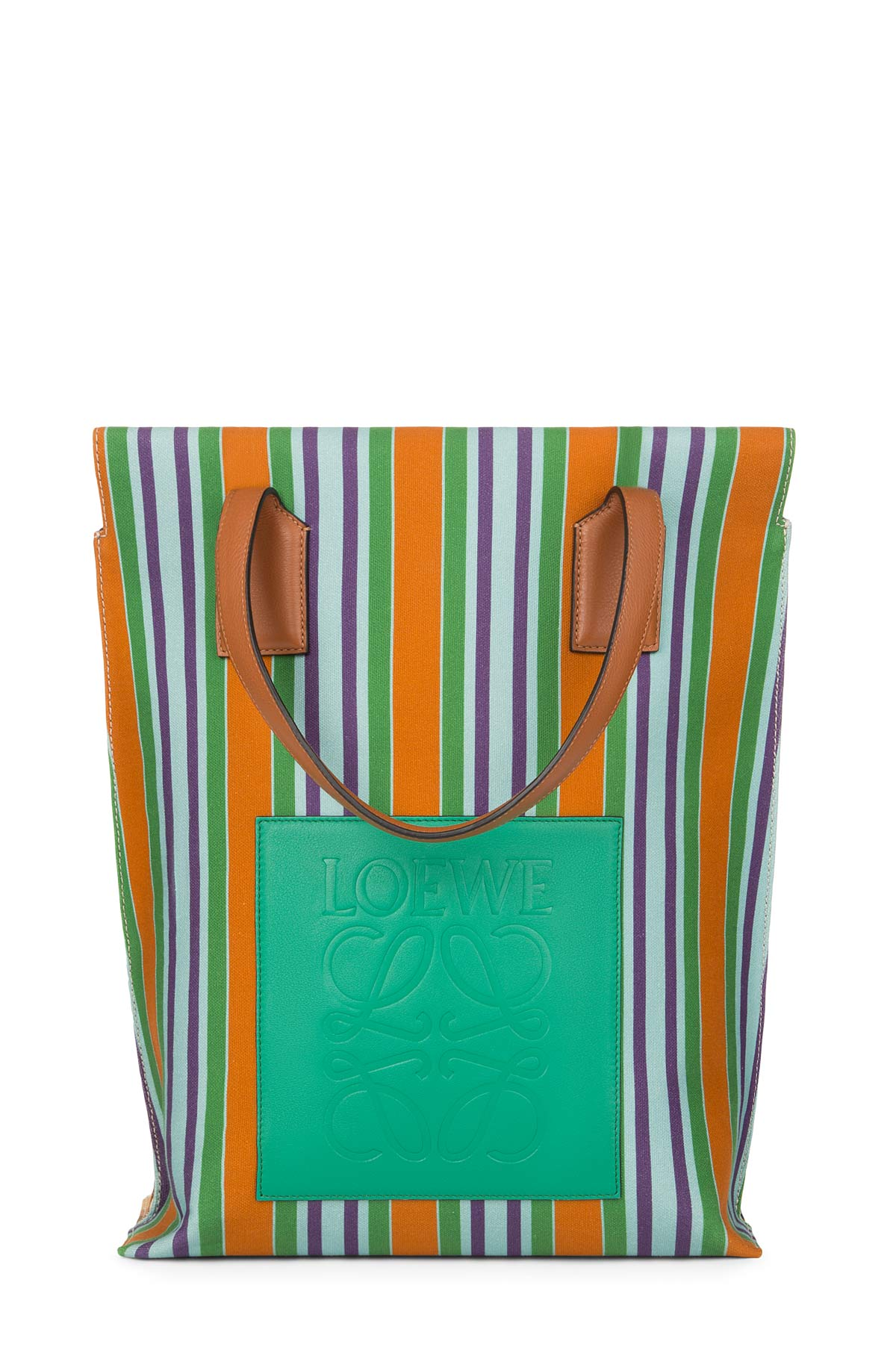 LOEWE Shopper Stripes Bag Multicolor front