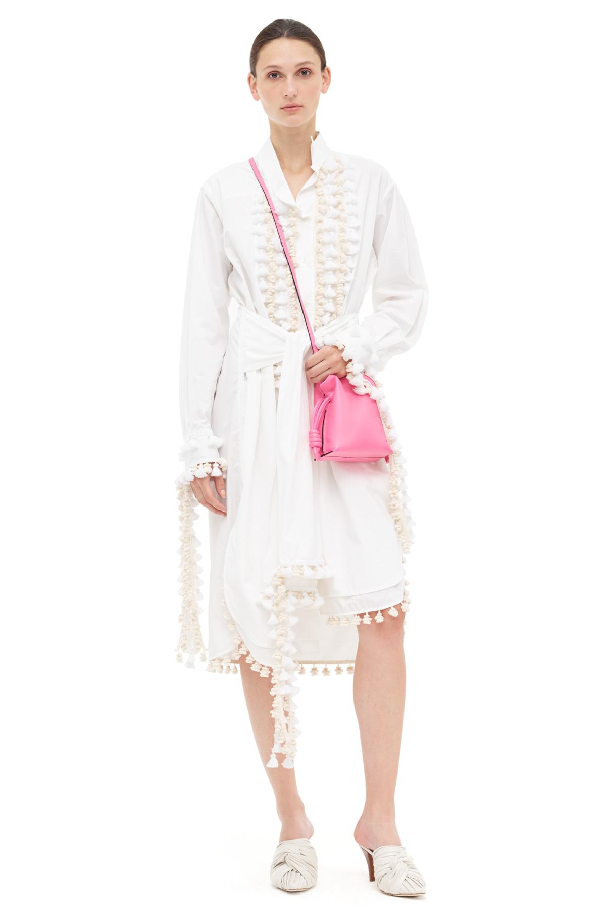LOEWE Shirtdress Pompons White front