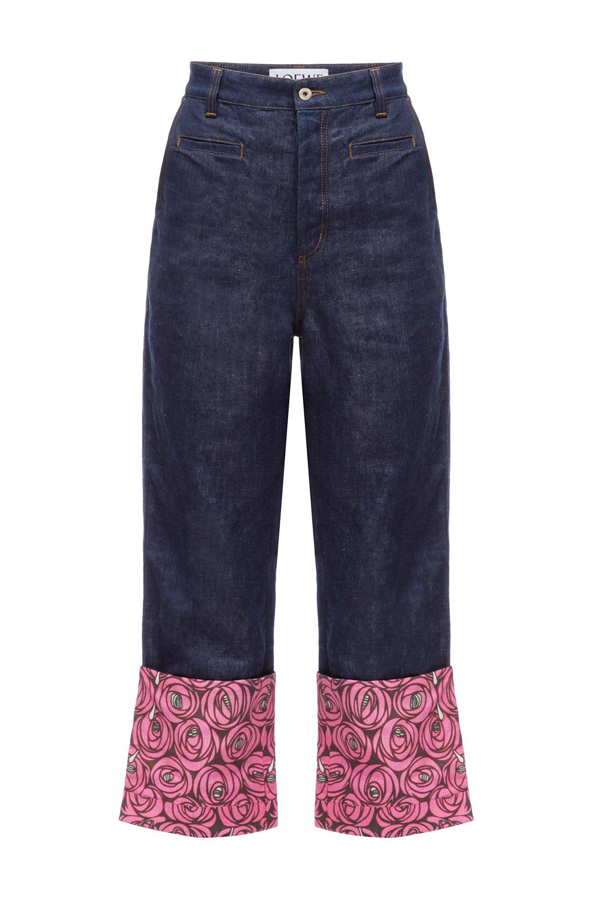 LOEWE Fisherman Trousers Roses indigo/multicolour front