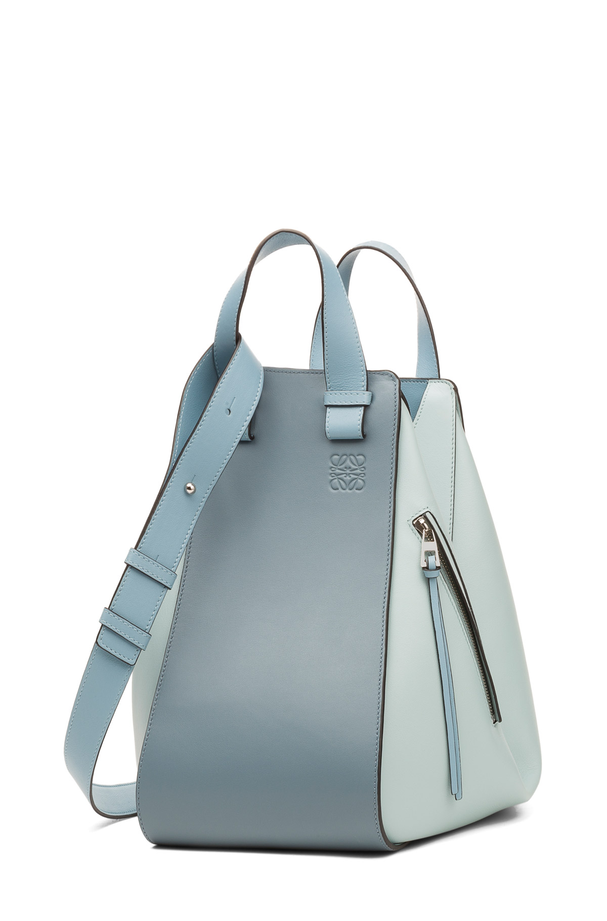 LOEWE ハンモック バッグ Stone Blue Multitone front