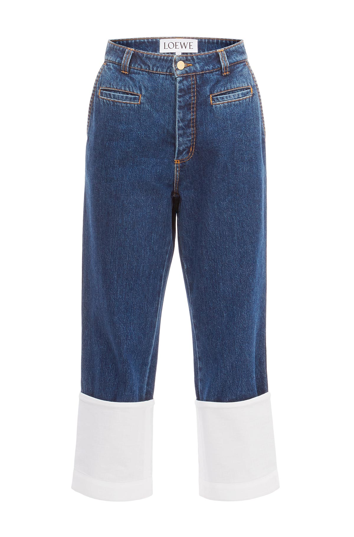 LOEWE Fisherman Contrast Stitching Blue Denim front