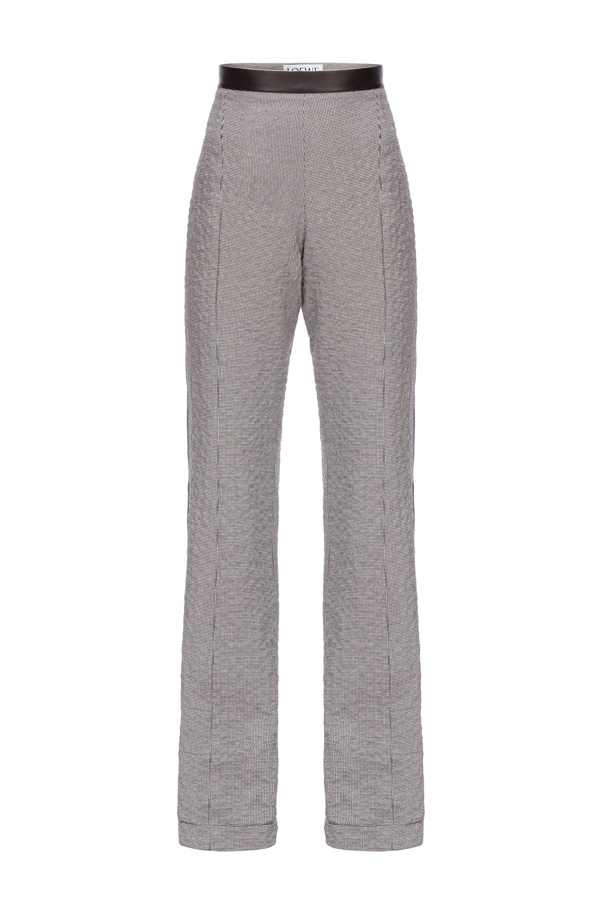 LOEWE Black Piping Trousers Black/White front