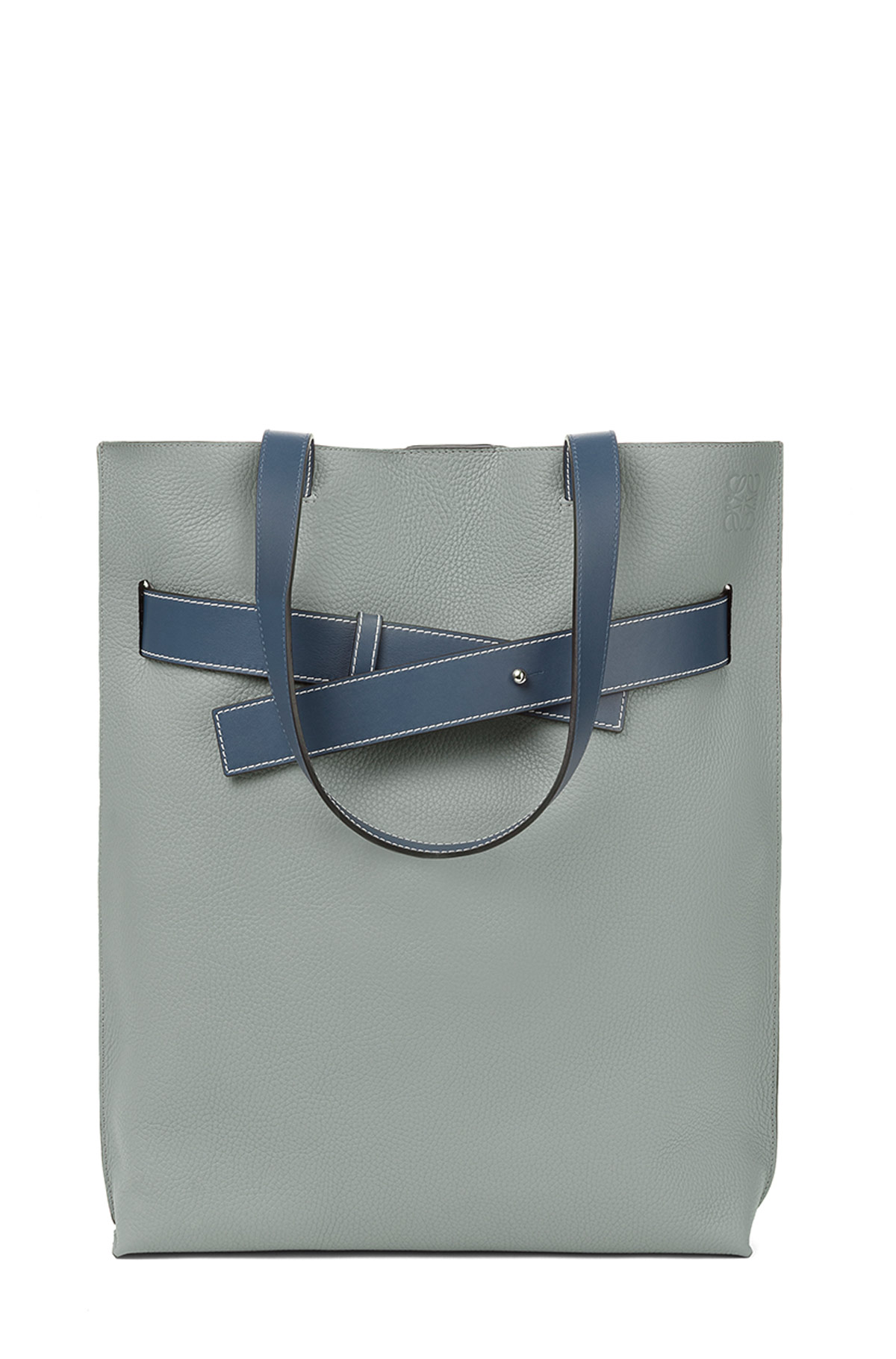 LOEWE Strap Vertical Tote Bag Cloud/Indigo front