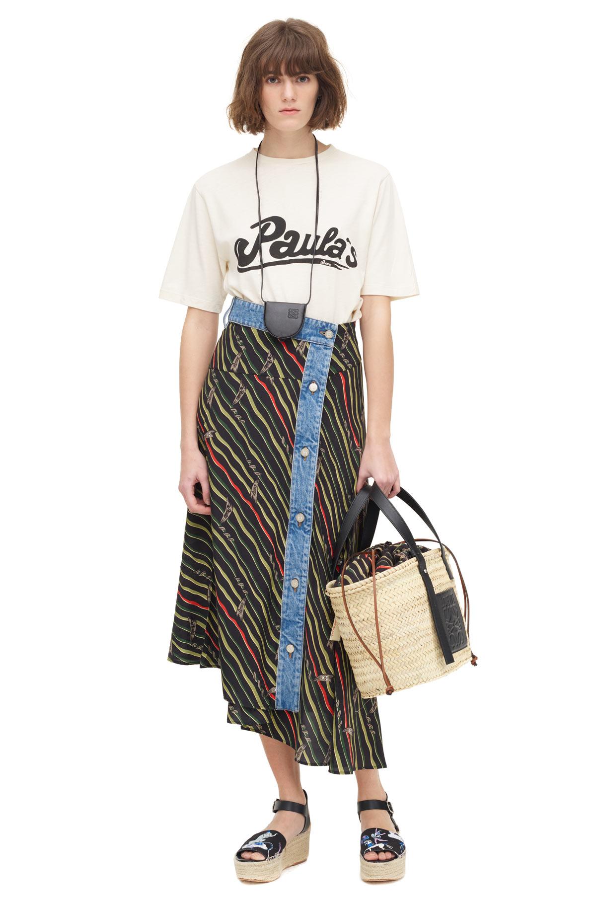 LOEWE Skirt Paula Flags W/ Denim Black/Multicolor front