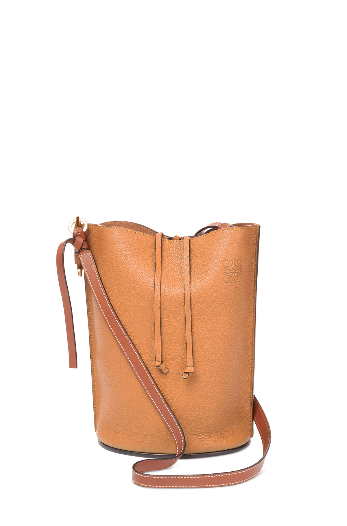 LOEWE ゲート バケット バッグ Light Caramel/Pecan Color  front