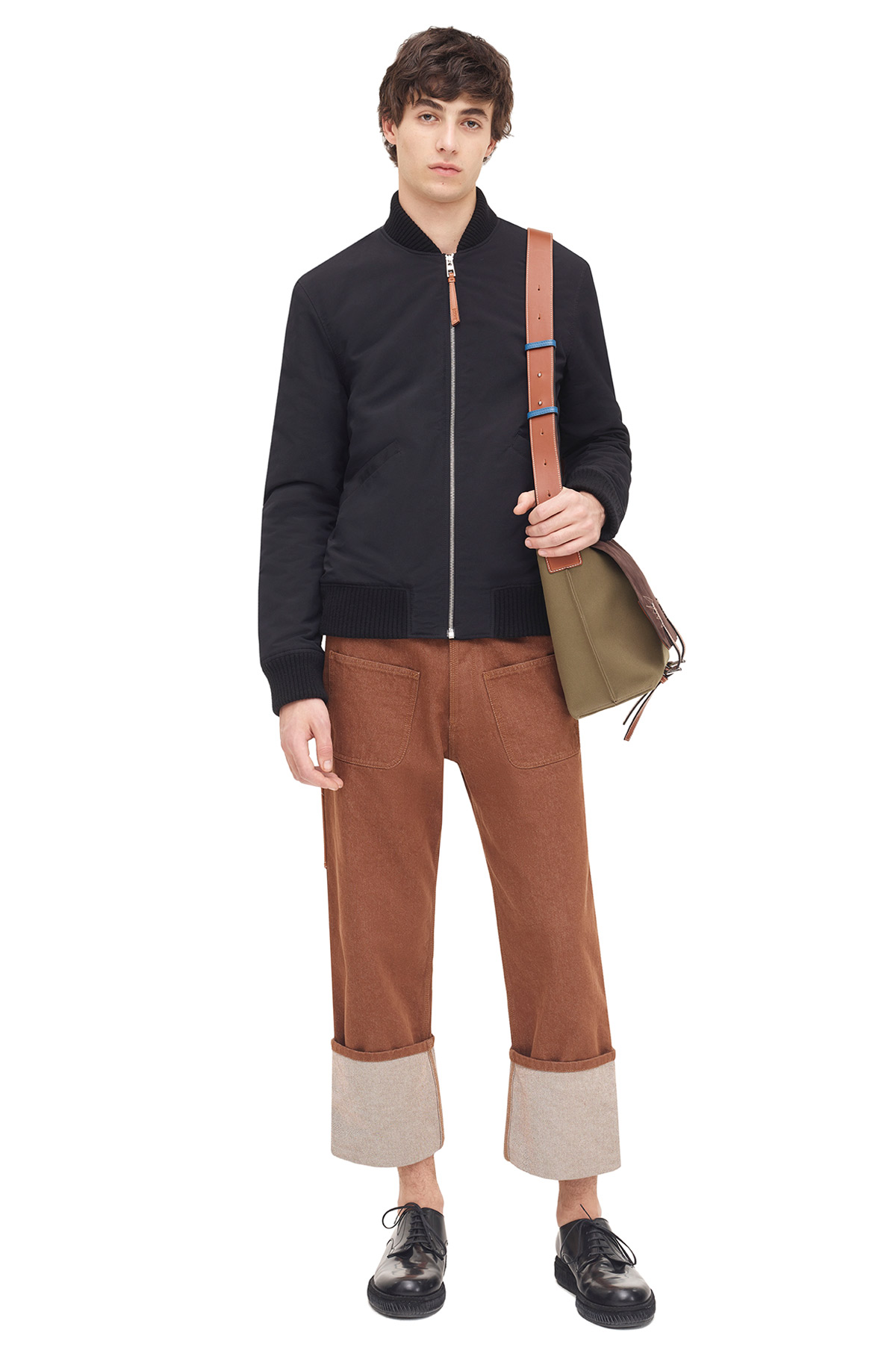 LOEWE Patch Pocket Trousers Brown front