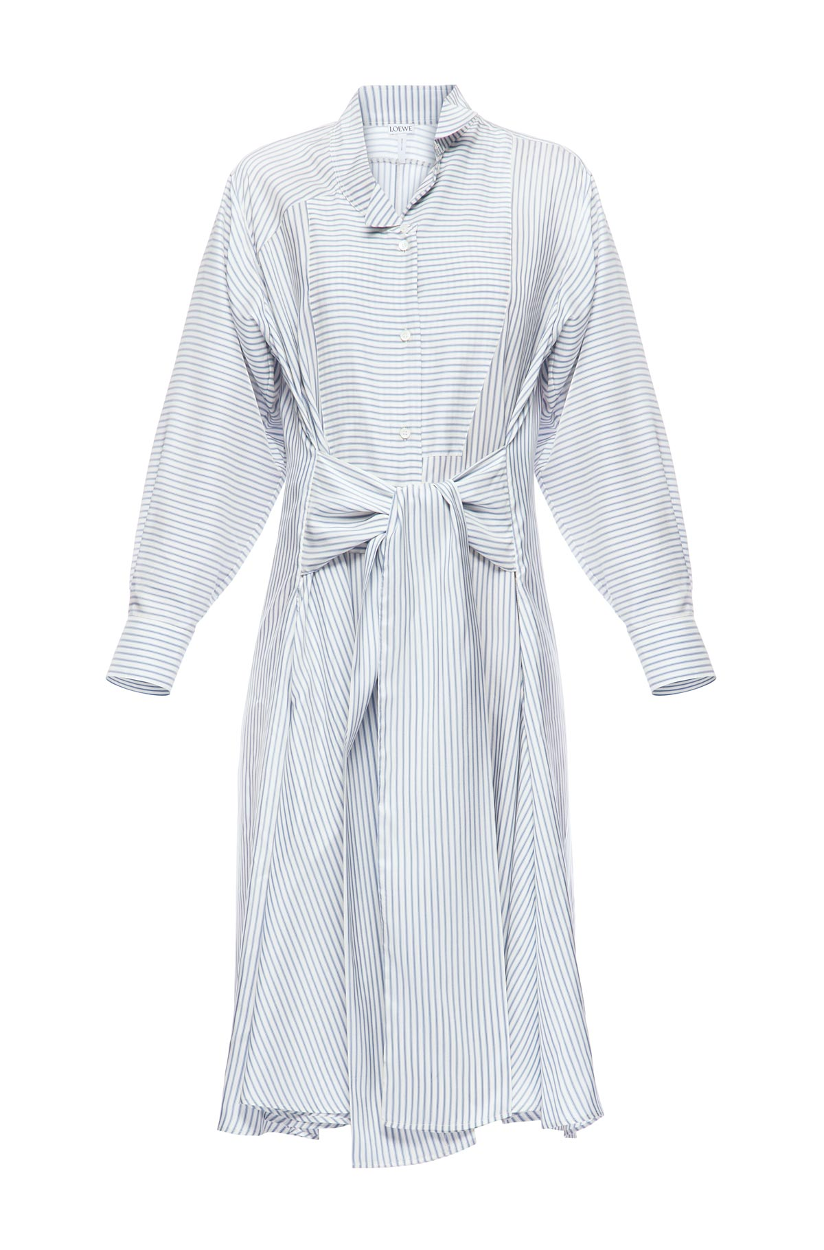 LOEWE Stripe Shirtdress White/Blue front