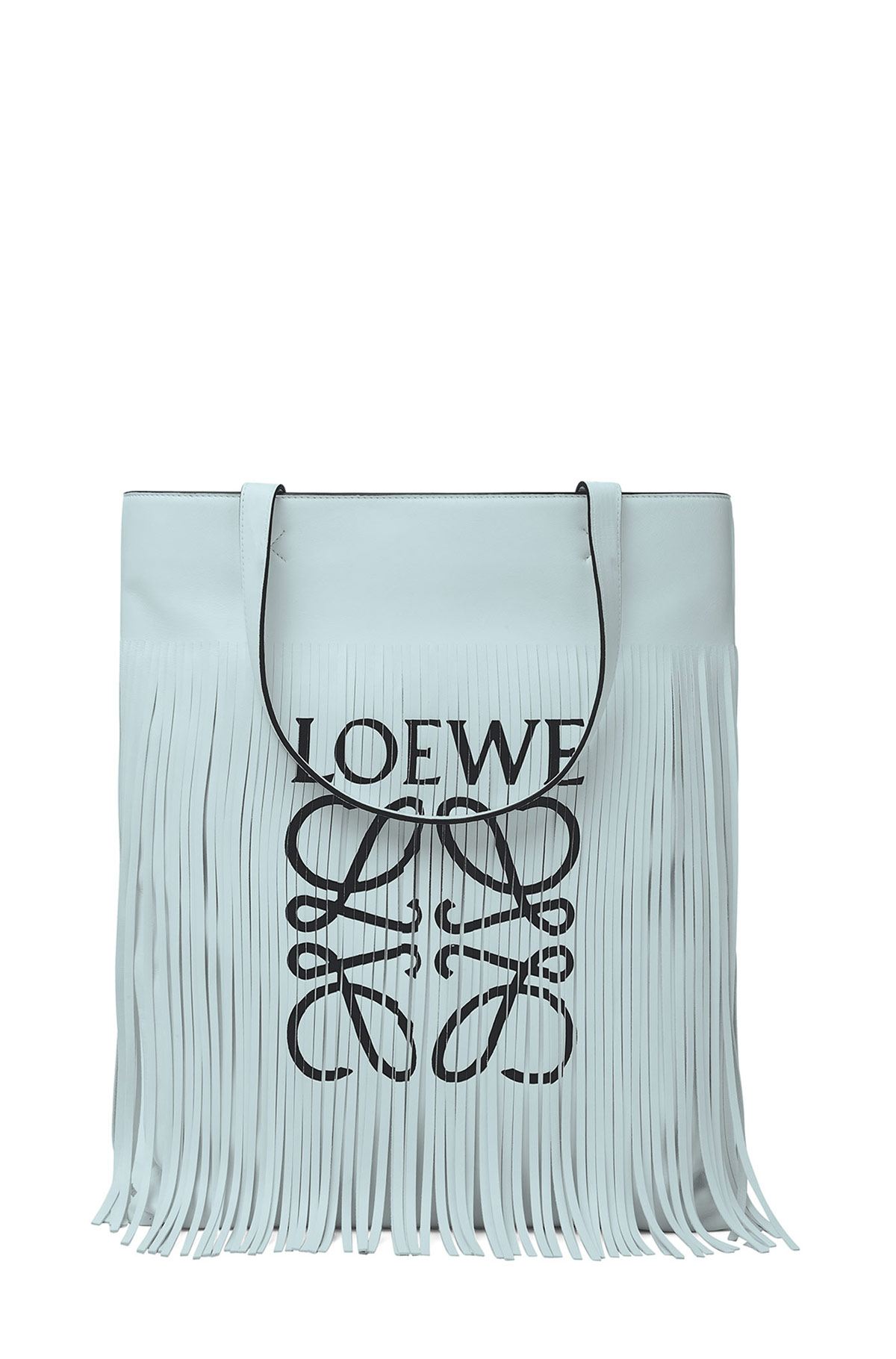 LOEWE Vertical Tote Fringe Paula Bag Light Sea Green front