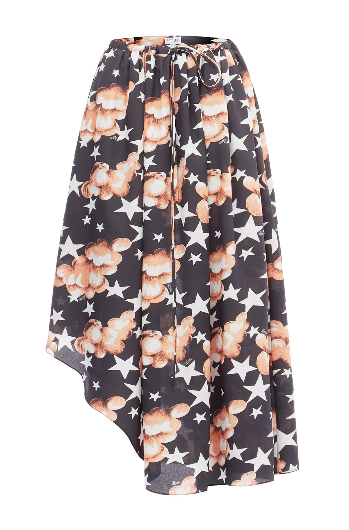 LOEWE Stars Asymmetric Skirt Multicolor front