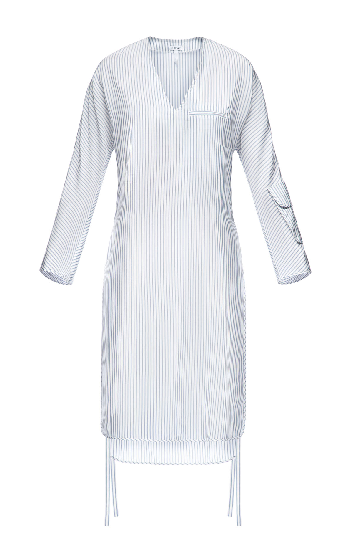 LOEWE Stripe Tunic Dress Blue/White front