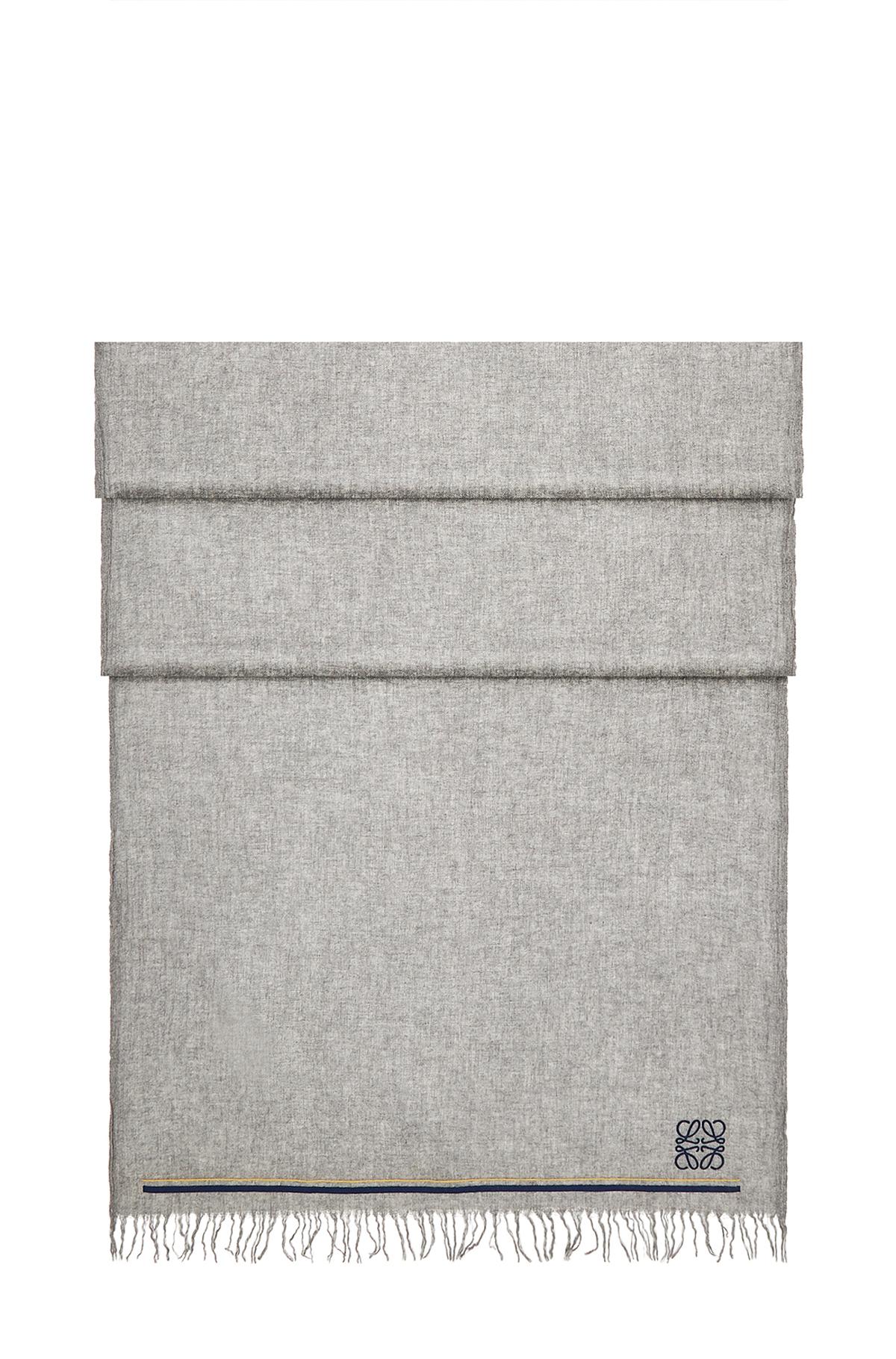 LOEWE 60X200 Scarf Anagram Stripes Gris front