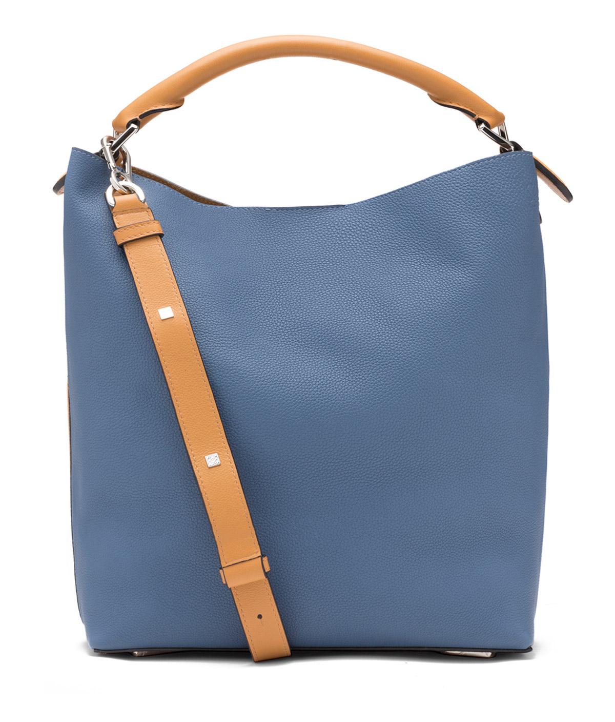 LOEWE Bolso T Bucket Azul Varsity/Ambar front